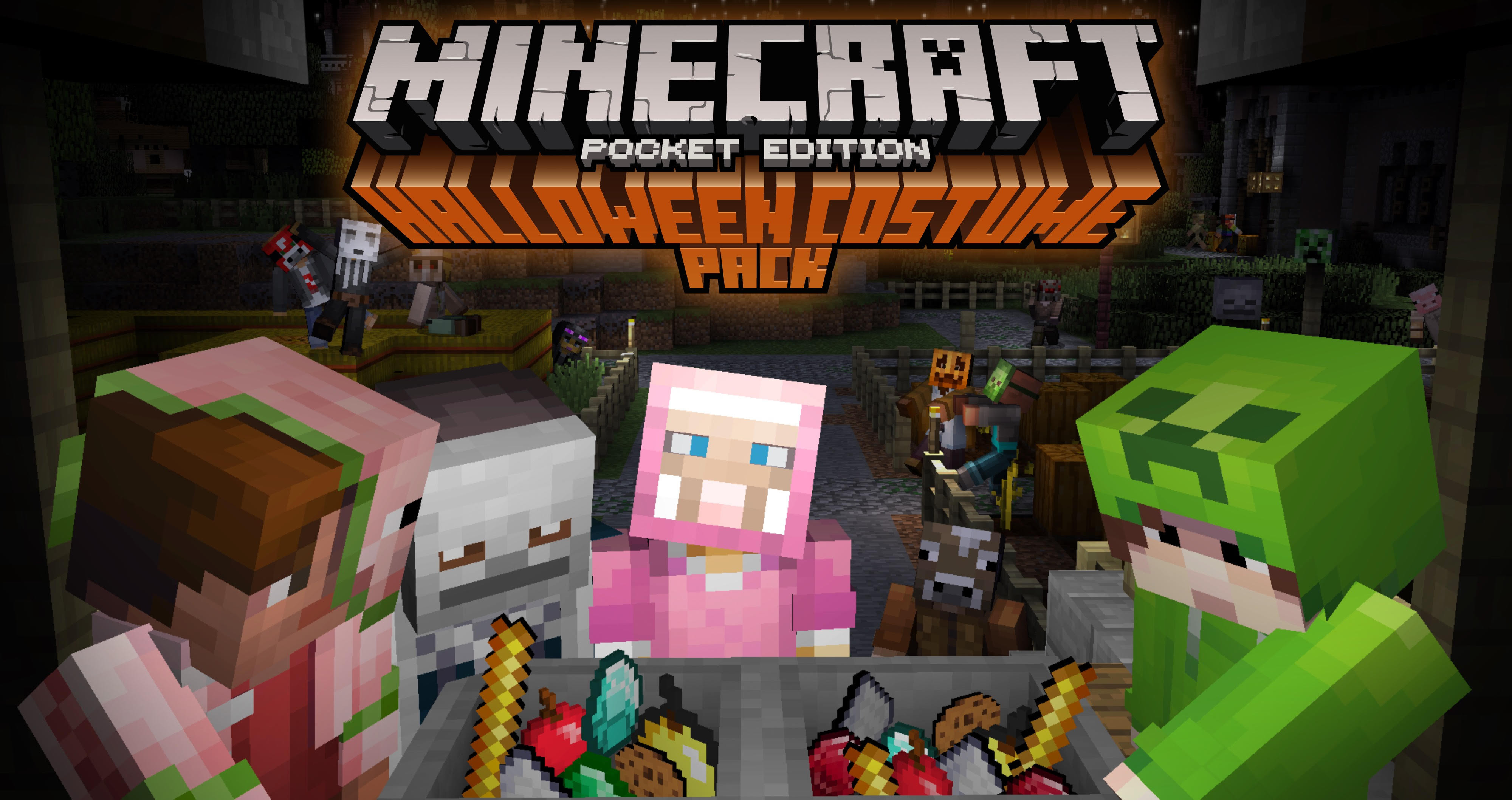 Halloween: skins op MCPE & W10 Edition + Mashup pack voor consoles