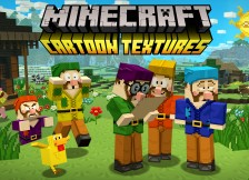 Cartoon texturen onderweg voor Pocketmine en Windows 10